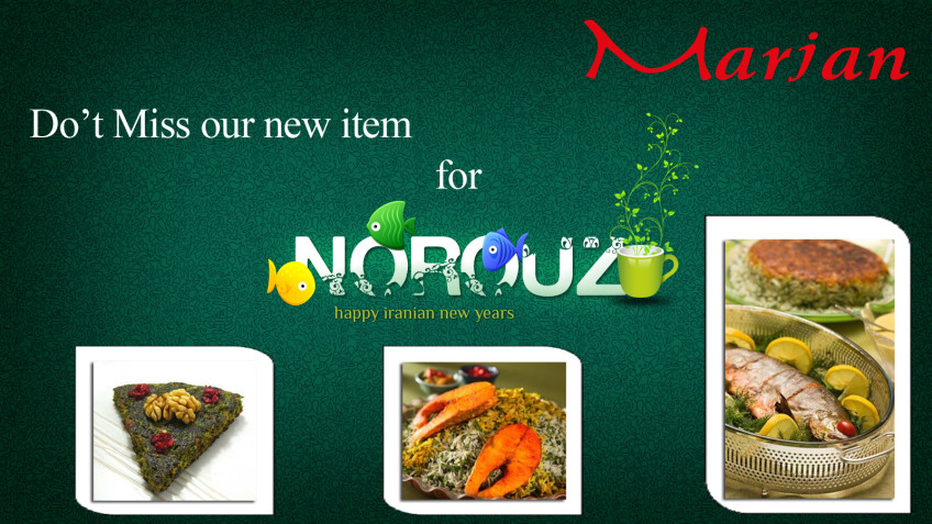 Norooz Special Menu